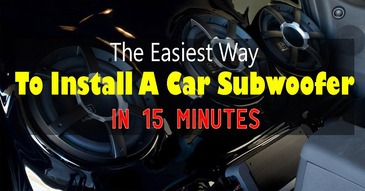 how to hook up car subwoofer
