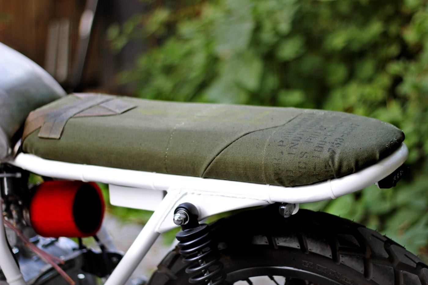 how to make your own cafe racer seat